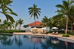 Tropische Insel-Paradies-Rücksortierung Stockbild