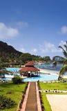 Tropische Insel-Rücksortierung Lizenzfreie Stockbilder