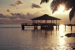 Tropische Insel und Kristall - freies Wasser Lizenzfreie Stockfotos