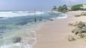 Tropische Küste Rocky Beach Aerial 4k stock footage
