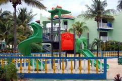 Tropische Kinder Playgound lizenzfreies stockbild