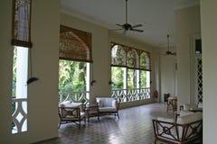 Tropische koloniale architectur Royalty-vrije Stock Fotografie