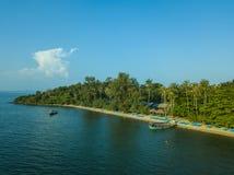 Tropische kust van Kambodja Lucht Mening Royalty-vrije Stock Afbeelding