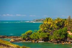 Tropische kustlijn stock foto