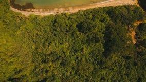 Tropische Lagune der Vogelperspektive, Meer, Strand Tropische Insel Catanduanes, Philippinen stock video footage