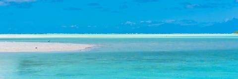 Tropische Lagune, im Französisch-Polynesien lizenzfreies stockfoto