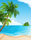 Tropische Landschaft lizenzfreie abbildung