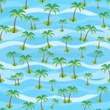 Tropische Landschaft Nahtloses Muster Stockfoto