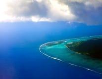 Tropische Landschaft Polynesia.Sea an einem sonnigen Tag Stockfotos