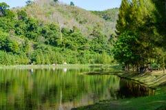 Tropische Landschaft, See und Hügel in Kathu-Bezirk auf Phuket Lizenzfreie Stockbilder