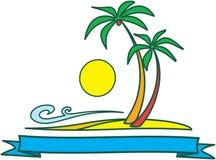 Tropische Landschaftsauslegung â vektorabbildung Lizenzfreie Stockfotos