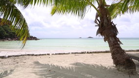 Tropische landschapsmening, Seychellen stock footage