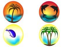 Tropische Logos Lizenzfreies Stockbild