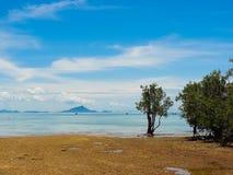 Tropische Mening in Krabi, Railay, Thailand Royalty-vrije Stock Fotografie