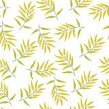 Tropische naadloze patroonbladeren royalty-vrije illustratie