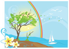 Tropische OceaanWind Royalty-vrije Stock Foto