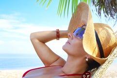 Tropische ontspanning stock foto's