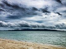 Tropische onweerswolken Stock Foto's