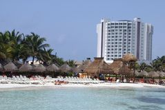 Tropische openluchtscène in Mexico Stock Foto