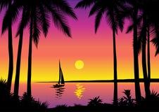 Tropische overzeese scène   vector illustratie