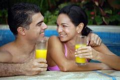 Tropische Paare. Lizenzfreie Stockfotos