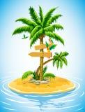 Tropische palm op het verlaten eiland