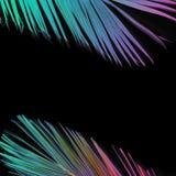 Tropische palmbladen in de trillende kleuren van het gradiëntneon Stock Foto