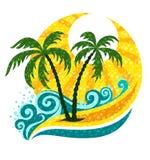 Tropische Palme in den Sewellen und -tageslicht stock abbildung
