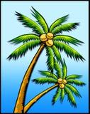 Tropische palmen stock illustratie