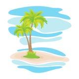Tropische Palmen auf der Insel Stockbilder