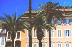 TROPISCHE PALMEN ITALIË Stock Afbeeldingen