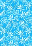 Tropische palmen met verontruste textuur. Stock Afbeelding
