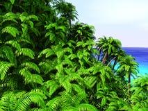 Tropische Palmen und Ozean Stockfotografie