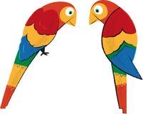 Tropische papegaaien Royalty-vrije Stock Foto