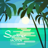 Tropische Paradies-Insel-Palme Sun Stockfoto