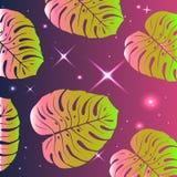 Tropische patroon-heldere exotische bladeren Royalty-vrije Stock Afbeeldingen