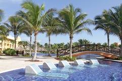 Tropische Pool Royalty-vrije Stock Afbeelding