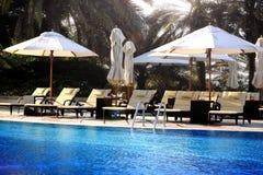 Tropische poolside Royalty-vrije Stock Afbeelding