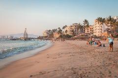 Tropische Rücksortierung Puerto Vallarta Bester Strand in Mexiko Der Ozean-Ansicht Stockbild