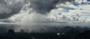 Tropische regen Stock Foto
