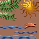 Tropische samenvatting Stock Afbeelding