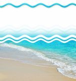 Tropische Sand-Strand-Auslegung-Elemente Stockfotos