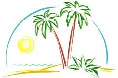Tropische Scène (Vector) Stock Foto's