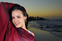 Tropische schoonheid bij schemer Stock Foto's