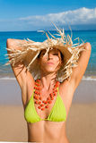 Tropische schoonheidsvrouw Royalty-vrije Stock Fotografie