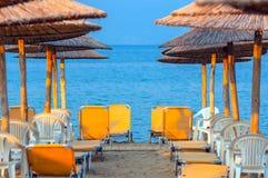 Tropische scène st het strand Stock Afbeelding