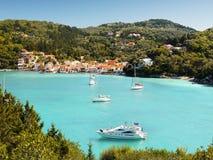 Tropische Seebucht-Ansicht Lizenzfreies Stockfoto