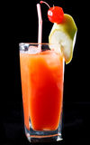 Tropische sinaasappel en rumcocktail Stock Foto's