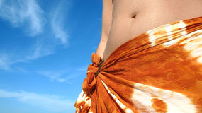 Tropische Sommer-Frau Lizenzfreie Stockfotografie