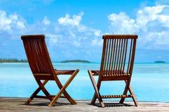 Tropische stoelen Royalty-vrije Stock Foto's